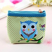 Womens Owl Wallet Card Holder Coin Purse Clutch Handbag B