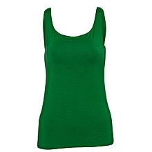 Women Green Stretch Camisole Vest