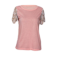 Pink Blouse Tank Top With Beautifully made Short Sleeves