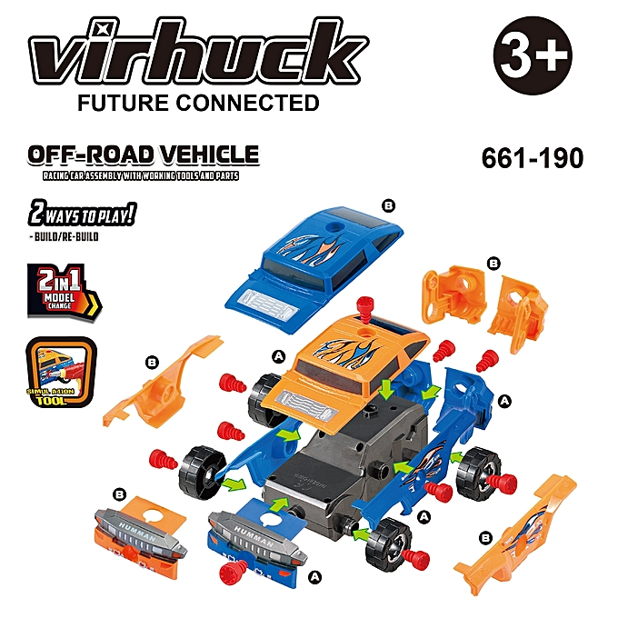 Buy Virhuck Off Road Vehicle Take A Part Toy Car For Kids Colorful