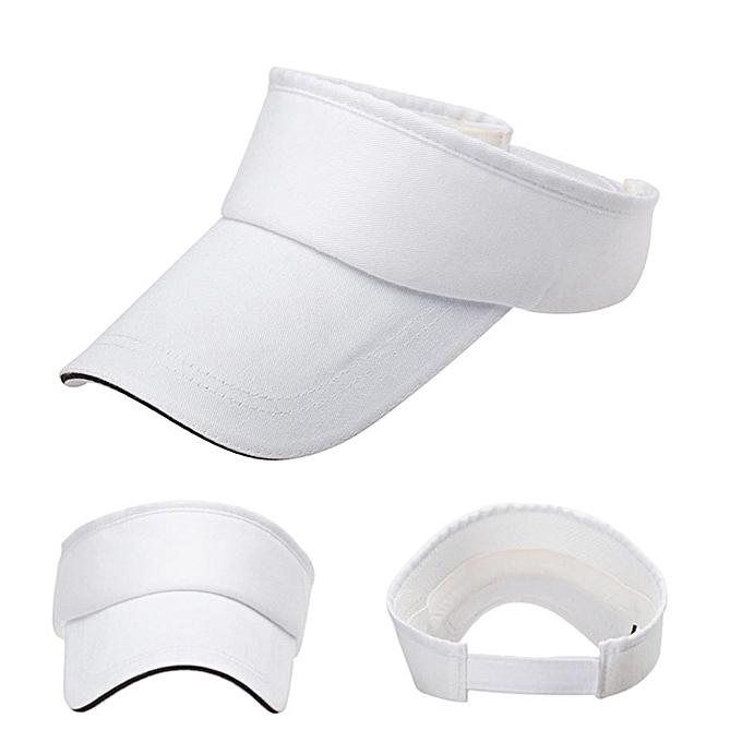 Men Women Summer Visor Sun Plain Hat Cap WH 8e2e755e0ca