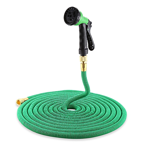 Hose Spray Nozzle >> Garden Expandable Flexible Water Hose Spray Nozzle Green