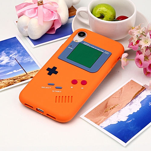 Sunsky Game Boy Pattern Silicone Protective Case for iPhone XR (Orange)