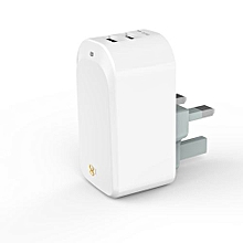 D8 Universal Dual USB Wall Charger (White)