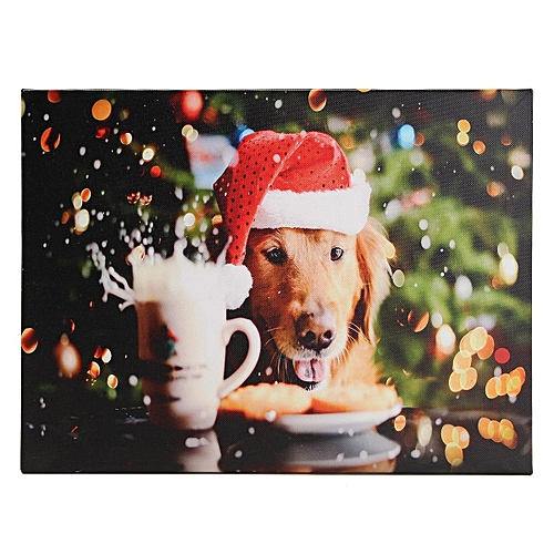 Generic Led Light Up Christmas Canvas Pictures Xmas Picture Decor