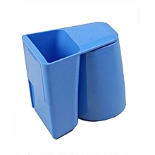 Plastic Wash Cup Toothbrush Holder Double-coated Tape Magnetic Toothbrush Holder - Blue