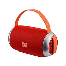 Portable Bluetooth Speaker with  Microphone (Red)