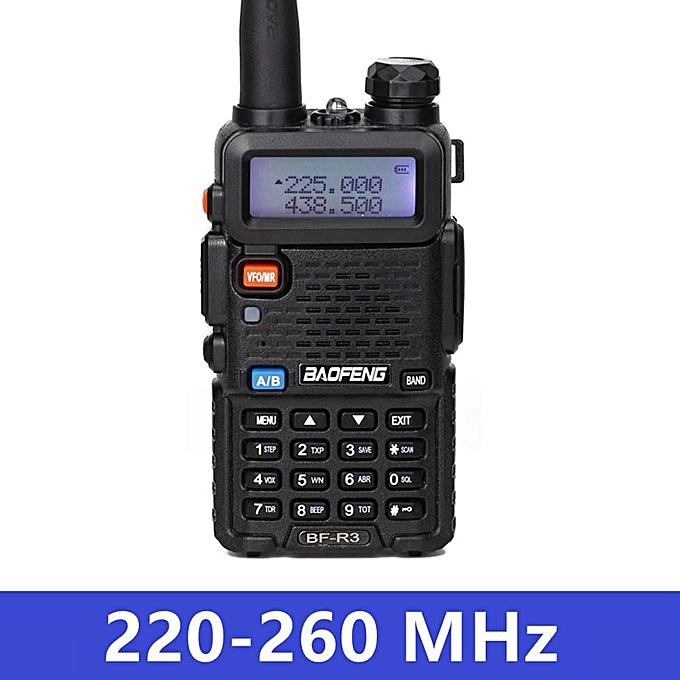 BF-R3 Tri-Band Walkie Talkie 136-174/220-260/400-470MHz Amateur Ham  Handheld Portable CB Radio Comunicador Transceiver REMIO