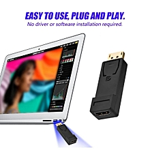 DP TO HDMI Converter DisplayPort DP Male to HDMI Female Converter Cable Adapter Black