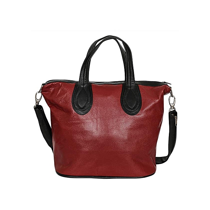 ae3b95b6243f3 Living Nice Leather Black/ Maroon Edith's Hand Bag @ Best Price ...