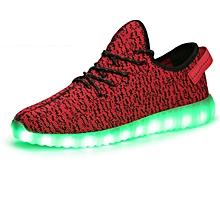 Unisex  LED Light Lace Up Sportswear Sneaker Shoes