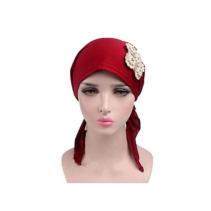 40d2592dc8d Eissely Women Muslim Stretch Turban Hat Chemo Cap Hair Loss Head Scarf Wrap  Hijib Cap RD