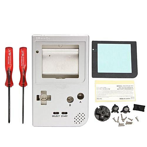 Full Parts Housing Shell Silver For Nintendo Game Boy Pocket Gameboy Pocket  GBP