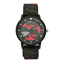 Combat Red Big Size Rubber Strap Watch.