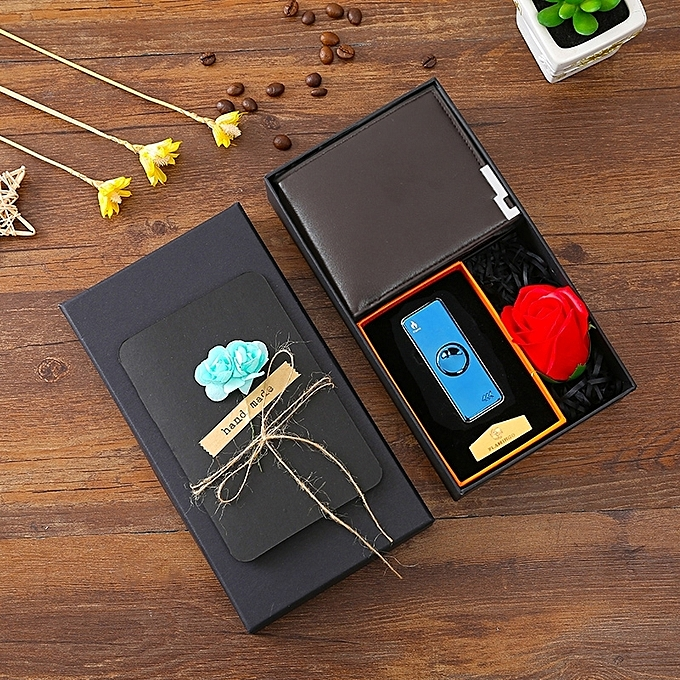Coffee Color Wallet F8 Blue Ice Gift Box Set 2018 Summer New Send Father To Send Boyfriend Birthday Holiday Creative Gift Creative Vibrato Hot