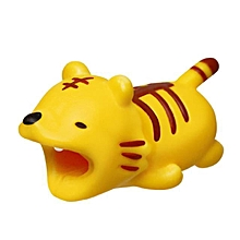 Cute Animal Cable Bite Protector For iPhone XS X 8 7 6 Line Holder Protective Cover USB Charging Cable Funny Gift Toys LIMEI