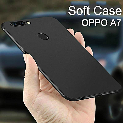 cheap for discount 8022b e0597 Soft Case For OPPO A7 Ultra Thin Smooth Back Cover Casing For OPPO A7 Cases  Housing Shell (OPPO A7-Black)