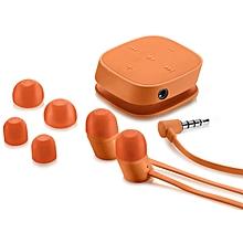 H5000 Bluetooth Earphones with Inbuilt Microphone - Orange