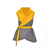 Mustard and Grey Scuba Coat