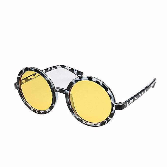b39c5b693357 Generic Nice Fashion Europe and the United States round sunglasses men and women  sunglasses travel marine film wild glasses-yellow   Best Price