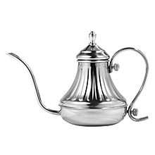 304 Stainless Steel Pour Over Coffee Gooseneck Kettle Teapot For Home Cafe Sliver 450ml