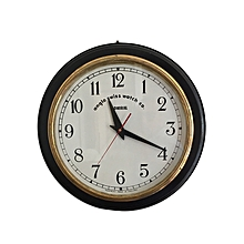 Anglo Swiss Antique Clock - White with Black Rim