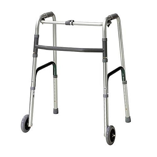 Buy Elegant Surgicals Foldable Walking Frame With Wheel - Stainless ...
