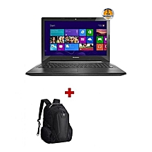 "Ideapad 110- 15.6"" - Intel Celeron - 500GB HDD - 4GB RAM - No OS Installed - Black + FREE Backpack"