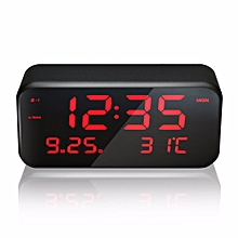 VST CL-003 Big Screen LED Digital Multi-function Music Alarm Clock with Temperature Snooze Date And