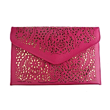 douajso Women Envelope Clutch Shoulder Messenger Bag Purse Handbag Hot Pink
