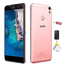 "Camon CX, 5.5"", 16GB, (Dual SIM), Rose Gold +  Free Flip Cover + Free Screen Protector Film"