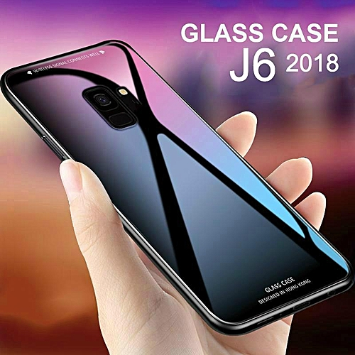 size 40 da4c6 72224 Glass Case For Galaxy J6 2018 Cover Full Protection Tempered Glass Back  Cover Casing For Samsung Galaxy J6 2018 Housing