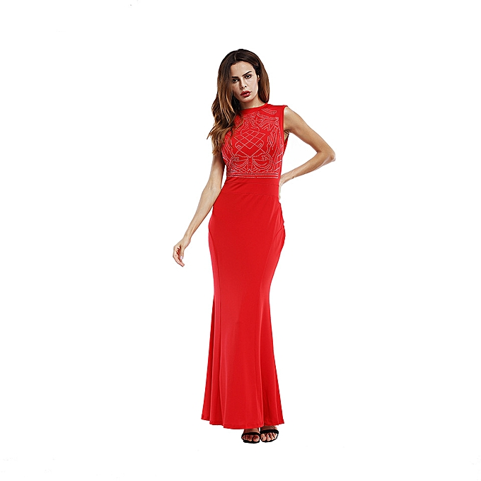 f7475e99ee8d Fashion Summer Women Sleeveless Dresses Long Dress @ Best Price ...