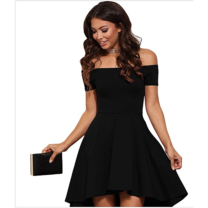 Women S Wear Short Sleeves With And Long Tail Skirt Black