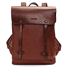 Vintage Men Women Leather Backpack Messenger Bag Satchel Laptop Travel Rucksack Dark Brown