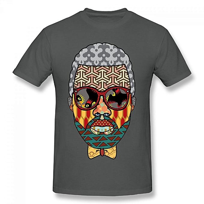 c46e63f5271e5 Kanye West Art Men's Cotton Short Sleeve Print T-shirt Grey