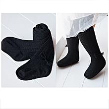 Fohting Winter New Fashion Children's Cotton Warm Pant Kids Stockings Pantyhose BK/L -Black