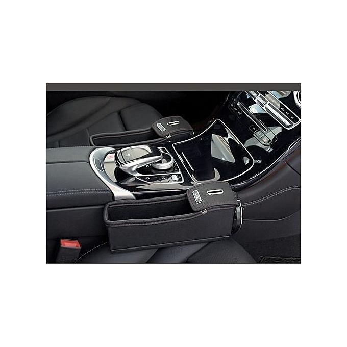 Variationblackred Co Pilot1PC Car Seat Gap Pocket Organizer