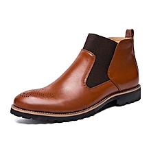 6668b7fa EUR Size 38-46 Men Chelsea Ankle Leather Boots Brown