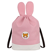 jiuhap store Mother&Me Unisex Adult Mom Cartoon Drawstring Backpack Students School Bags- Pink
