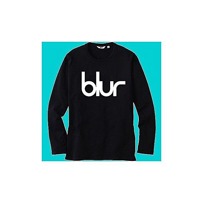 31329ee41a3bdd Men T Shirt BLUR Rock Band Logo Printed Black Long Sleeve T Shirts Short  Sleeve Funny