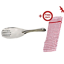 Rice Server Spoon Stainless Steel - Silver (+ Free Gift Hand Towel).