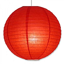 "Chinese Lanterns / Ball Lampshades - Silk Fabric 14"" - Red"