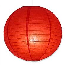 "Chinese Lanterns / Ball Lampshades - Silk Fabric 14"" - Red"