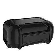 ABS Resin Earphone Storage Box Portable - Black