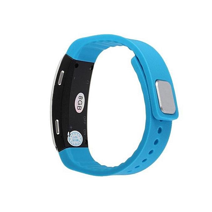 Digital Voice Recorder USB Wristband Bracelet Sound Dictaphone MP3 Mic 8GB