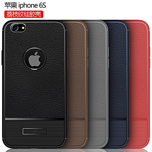 Generic For For Iphone 6s Case Luxury Litchi Pattern Soft Silicone