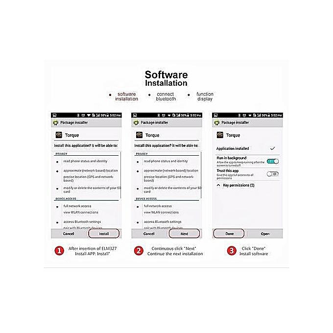 Mini ELM327 OBD2 II Bluetooth Auto Car OBD Diagnostic Interface Scanner Tool