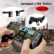 PUBG Controller Mobile Phone Gaming Joystick Handle W/ Bracket Holder + Shooter