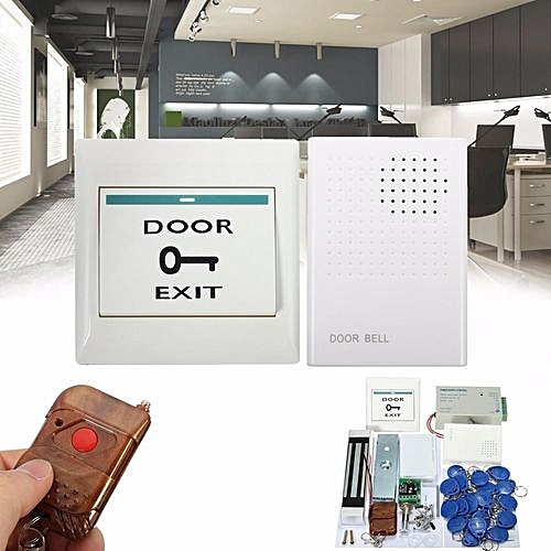 generic electric door lock magnetic access control id card password  security system+keys